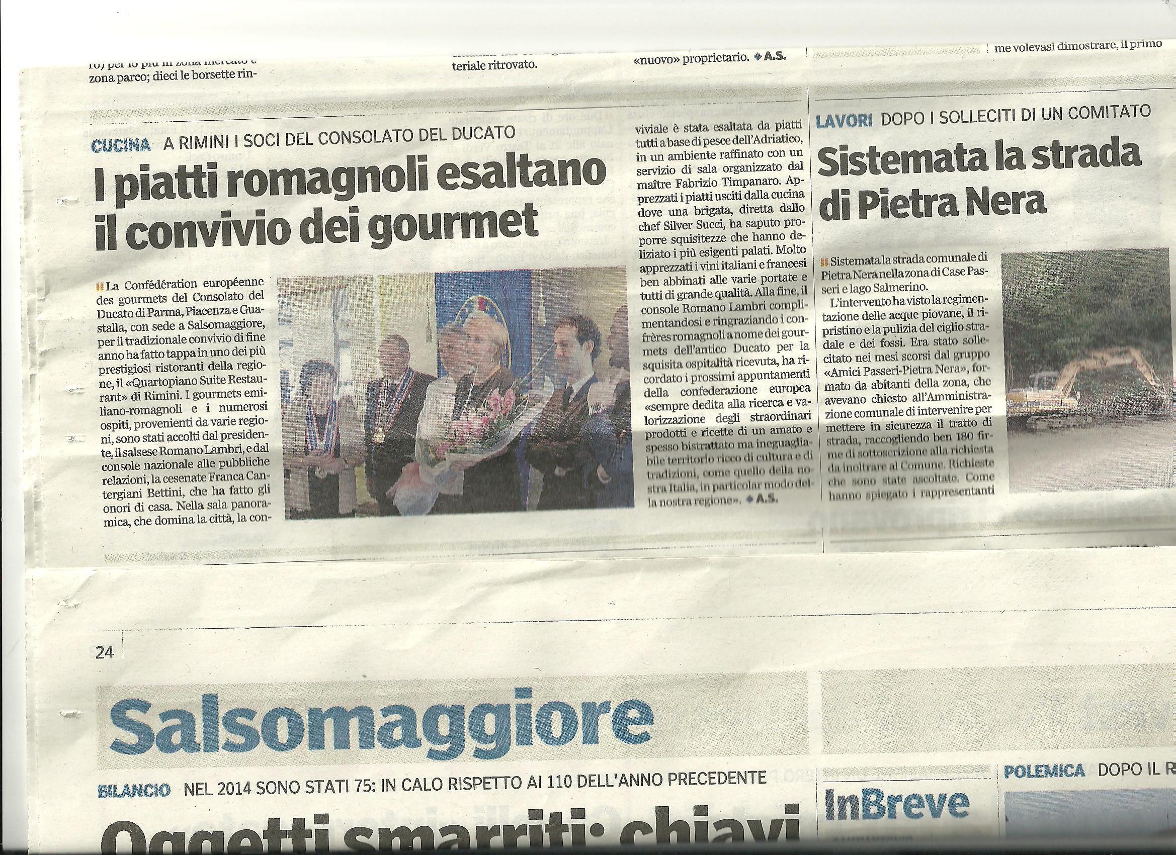 Articolo Al 4° Piano Rimini-Gazzetta di Parma 13.01,15